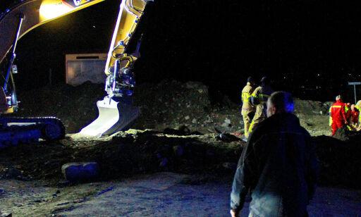 image: Mann alvorlig skadd i gravemaskinulykke