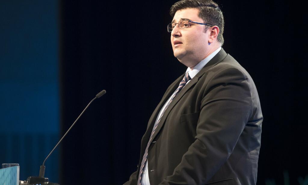 Stortingsrepresentant og tidligere Frp-politiker Mazyar Keshvari er dømt for grovt bedrageri. Han har innrømmet forholdet. Foto: Terje Bendiksby / NTB scanpix.