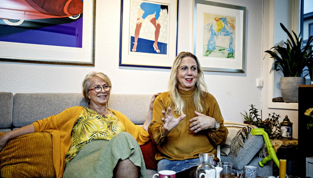 IKKE I SKAPET: For Eva er det viktig å fortelle omverdenen at mannen Jan Elisabeth er trans. Foto: Nina Hansen / Dagbladet