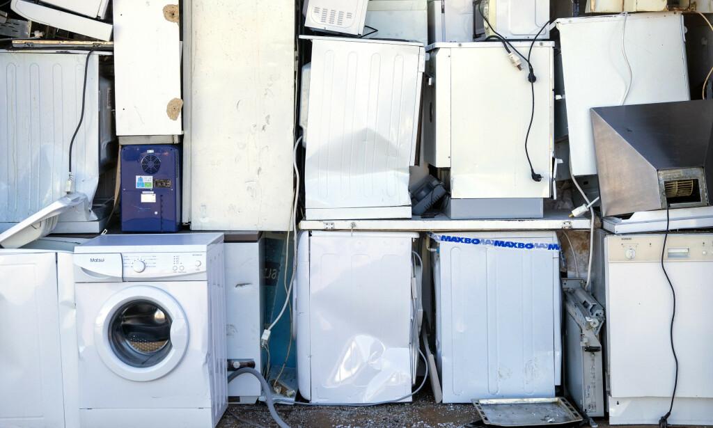 EE-AVFALL: Elkjøp innfører kameraovervåking av EE-avfallet ved sine butikker. Foto: Ole Berg-Rusten/NTB Scanpix