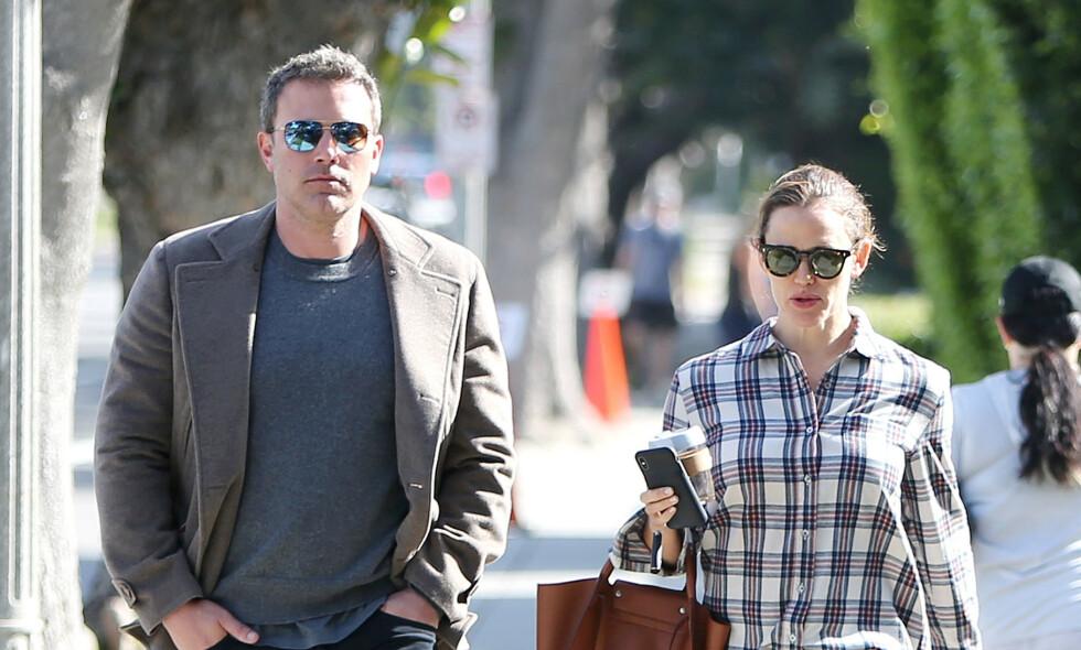 HOS EKSEN: Ben Affleck innrømmer å ha vært beruset i helgen. Dagen etter dukket han opp hos ekskona Jennifer Garner. Bildet er fra en tidligere anledning. Foto: NTB Scanpix