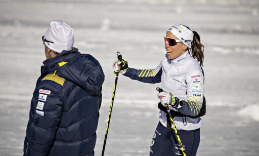 HØYERE NIVÅ: Charlotte Kalla mener Johaug har hevet nivået i kvinnelangrenn. Photo: Bjørn Langsem / Dagbladet