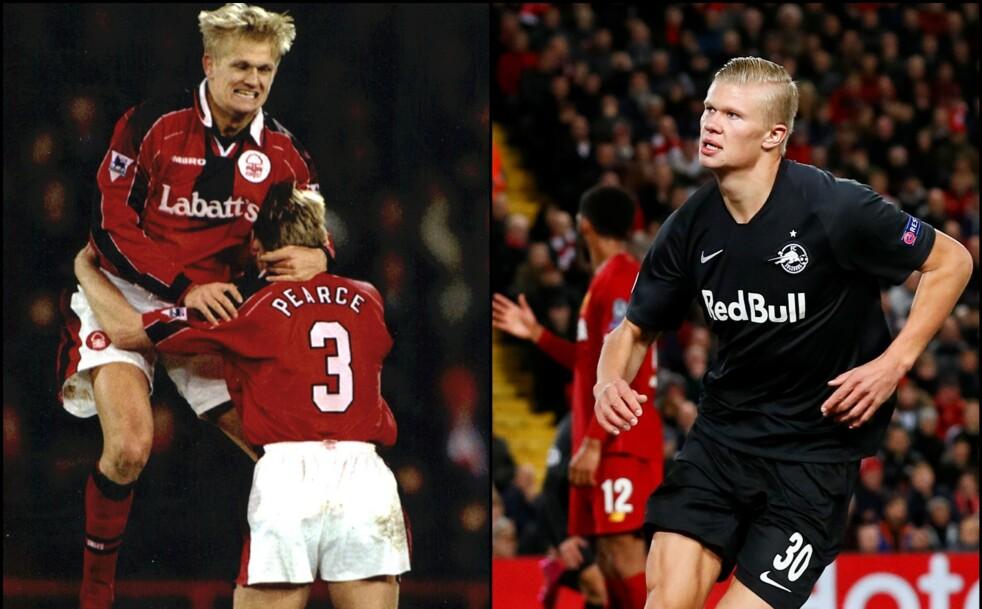 <strong>STERKE OG UREDDE:</strong> Alf Inge Håland var fotballproff i England og spilte 34 landskamper for Norge. Nå er sønnen Erling Braut Haaland (19) en av Europas største fotballtalenter. Foto: NTB Scanpix