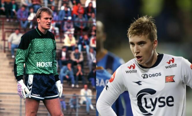 <strong>KEEPERKJEMPE:</strong> Erik Thorstvedt var norsk keeperlegende i blant annet Tottenham. Nå går sønnen Kristian i farens fotspor, men spiller på en annen kant av banen. Foto: NTB Scanpix