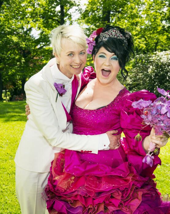 GODT GIFT: I 2013 giftet Christine Koht seg med sin utkårede, Pernille Rygg, i Ris Kirke. Foto:Tor Lindseth