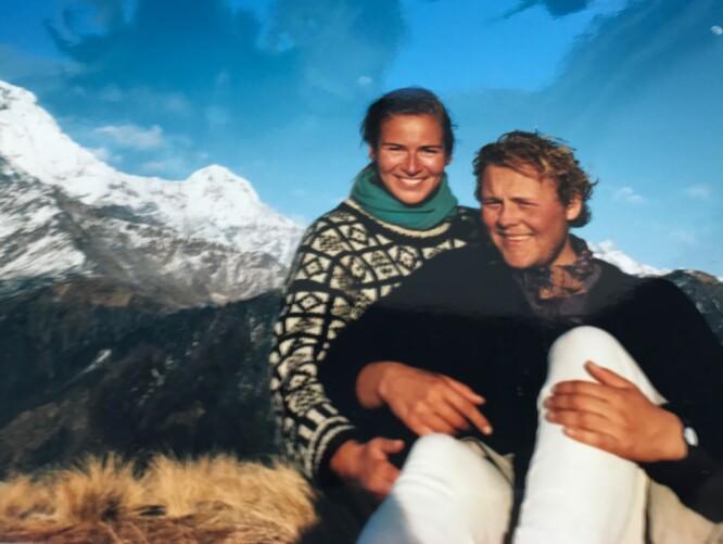 <strong>NEPAL:</strong> Ulf André Andersen og kona i Nepal. Foto: Privat