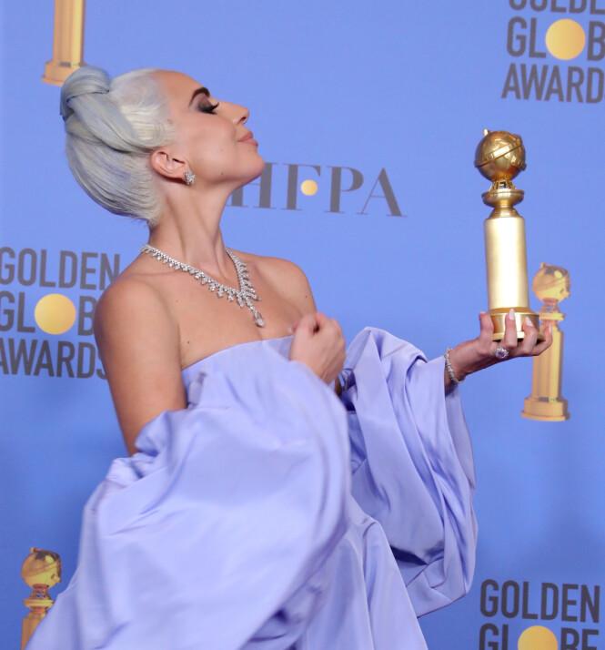 SUKSESS: Lady Gagas låt Shallow vant både en Golden Globe og en Oscar. Foto: NTB Scanpix