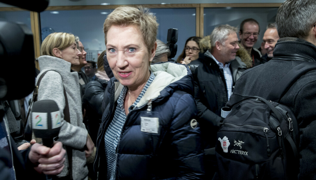– Vi ser at vi trenger mer tid for å komme i havn, sier første nestleder Peggy Hessen Følsvik i LO om forhandlingene om særaldersgrenser i alderspensjonen for ansatte i offentlig sektor. Foto: Vidar Ruud / NTB scanpix.