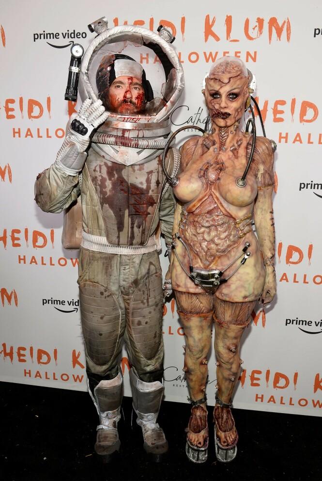 HALLOWEEN 2019: Tom Kaulitz og Heidi Klum sparte ikke på kruttet i år. Foto: NTB Scanpix