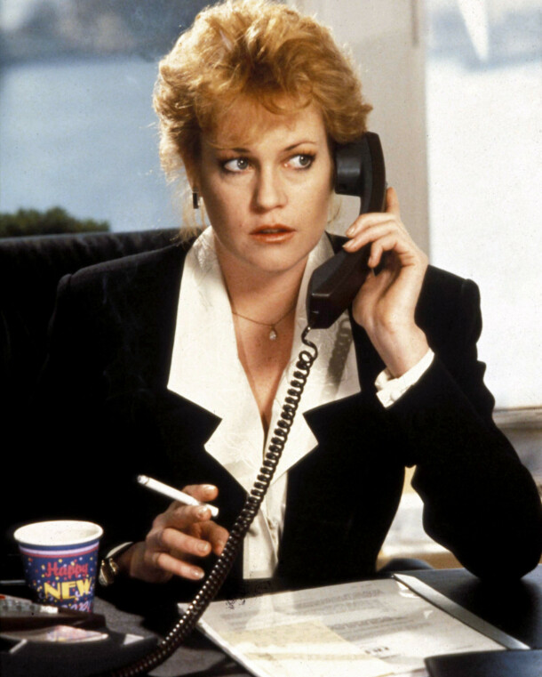 <strong>MELANIE GRIFFITH:</strong> Skuespilleren i en scene fra «Working Girl» (1988). Foto: 20th Century Fox/ Kobal/ REX/ NTB scanpix
