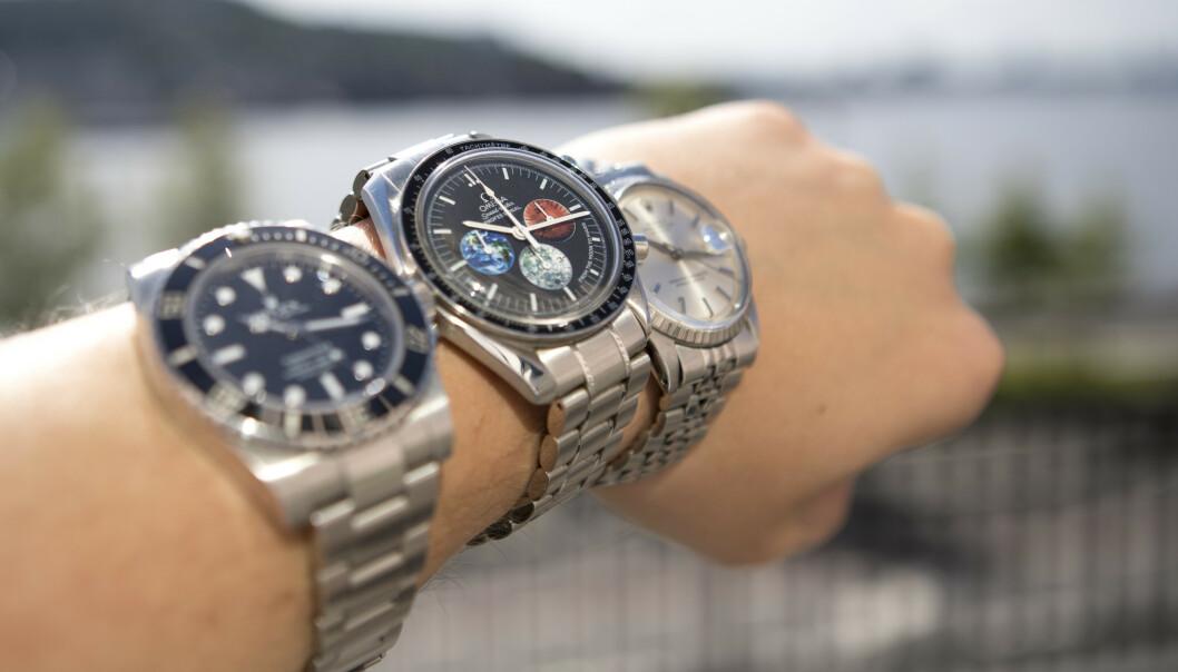 LUKSUSKLOKKER: Rolex Submariner, Rolex Datejust og Omega Speedmaster Professional er ettertraktede klokker. Foto: Torstein Bøe / NTB scanpix