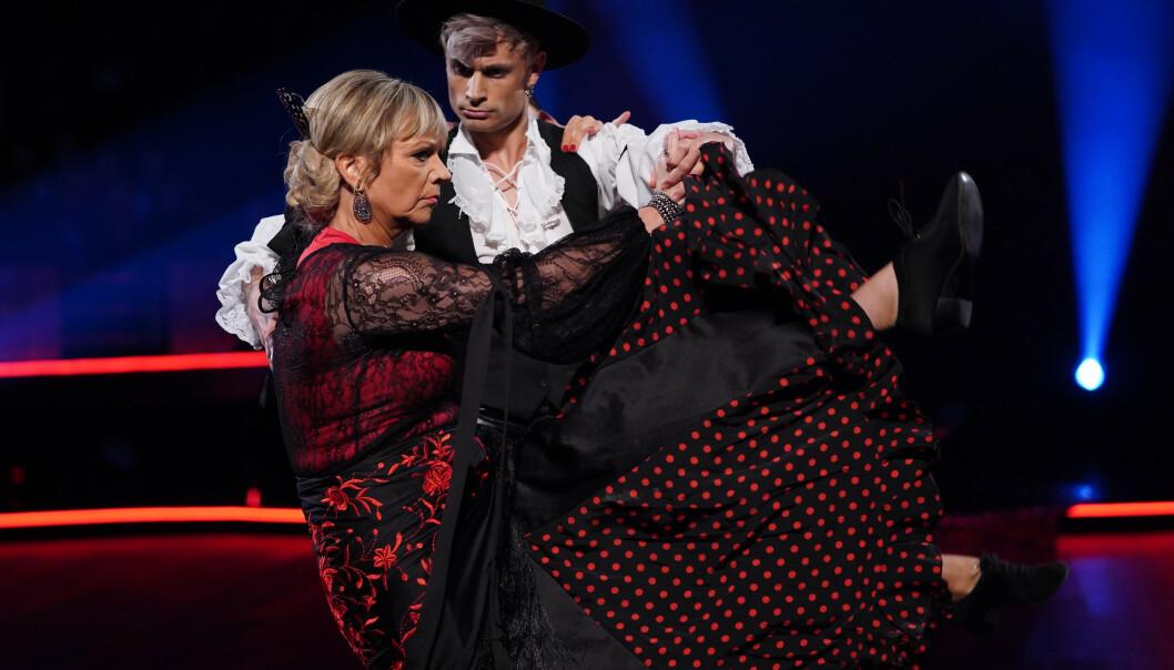 DOMMERDANS: Trine Dehli Cleve danset med Victor Sotberg. Foto: TV 2 / NTB Scanpix
