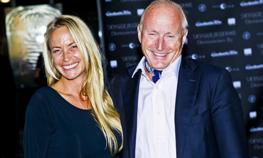FORLOVET: Christian Ringnes og kjæresten Lotte Birgitta Inger kunne søndag morgen avsløre at de er forlovet etter ti år sammen. Foto: Vegard Grøtt / NTB Scanpix