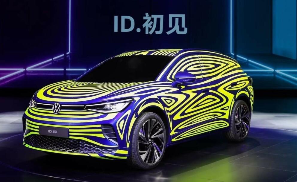 VW ID.4: Dette blir den første fullelektriske SUVen fra VW, og kommer på markedet neste høst. Foto: VW