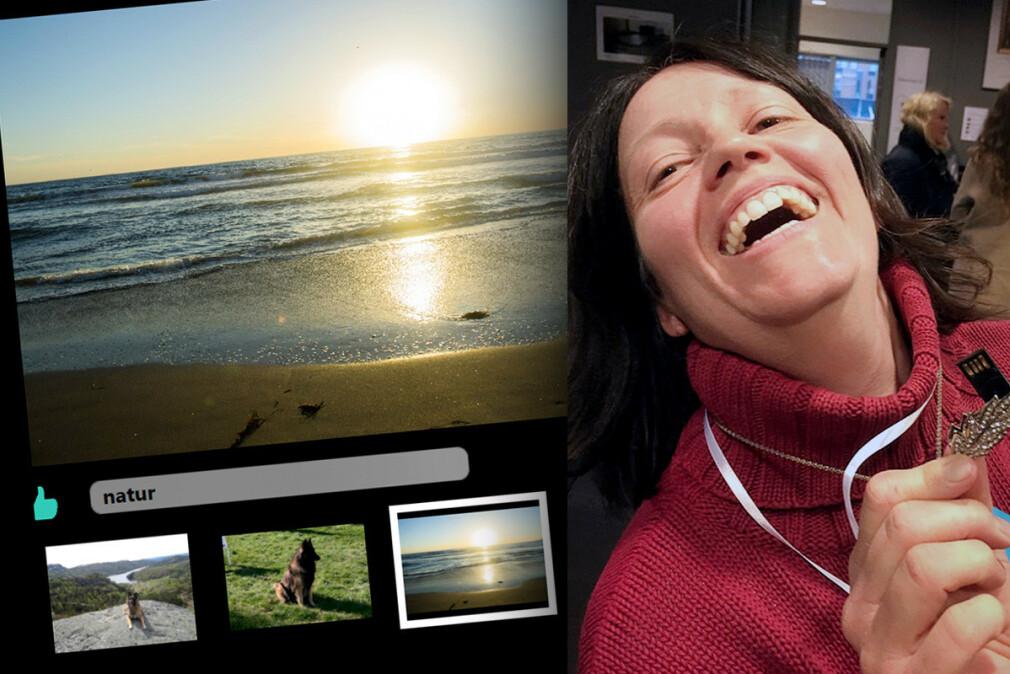 Anne Lene Øysæd har 22 års fartstid som utvikler. For tre år siden lagde hun sitt eget bildesorterings-program i rammeverket WPF. 📸: Privat