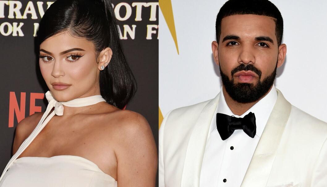 FLØRT?: Kylie Jenner og Drake har satt fart på romanseryktene. Foto: Splash News, Evan Agnostini/Invision/NTB scanpix