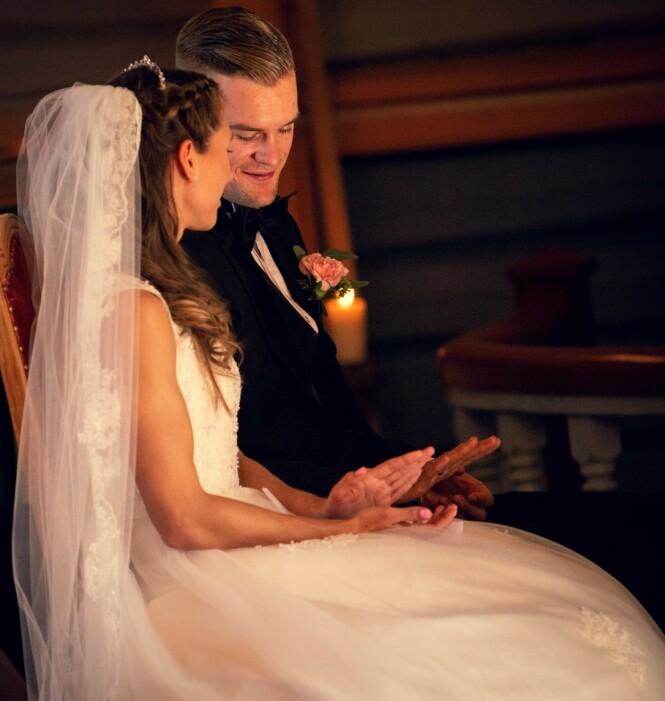 GIFT: Nå er det et drøyt år siden Astrid giftet seg med Filip - og hun gleder seg til mange år i fremtiden. FOTO: Bård Gundersen