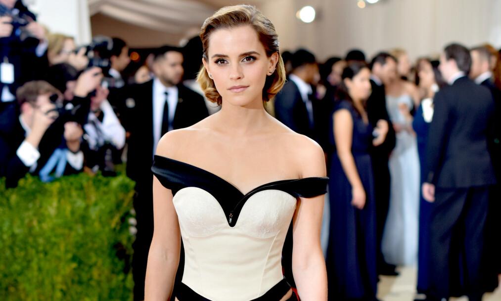 ÆRLIG: Hollywood-stjernen Emma Watson legger ikke skjul på at hun har følt på angst over å bli eldre, fordi hun ikke har oppfylt visse forventninger. Foto: NTB scanpix