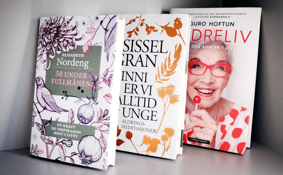 <strong>DET NYE ELDRELIVET:</strong> Det finnes en mengde litteratur om aldring på markedet nå. Foto: Ole Petter Baugerød Stokke