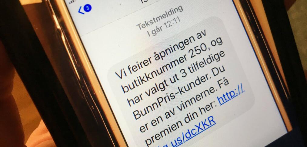 Denne SMS-en er ikke fra Bunnpris