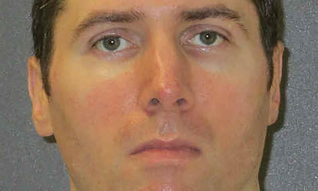 Et udatert bilde av Justen Hall som ble henrettet i Texas onsdag kveld etter at han ble dømt til døden for drapet på Melanie Billhartz i El Paso i 2002. Foto: Texas Department of Criminal Justice/ AP/ NTB scanpix