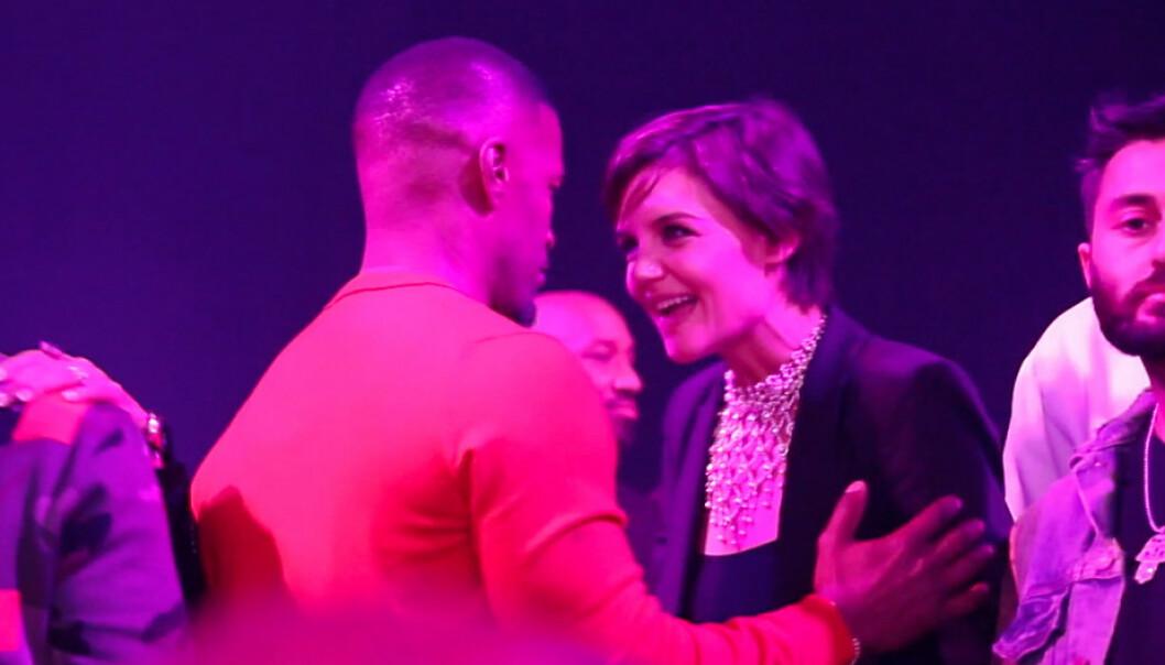 BRUDD: Katie Holmes og Jamie Foxx holdt forholdet hemmelig i lang tid, men under 50-årslaget hans i desember 2017 klarte de ikke lenger å skjule kjærligheten. FOTO: NTB scanpix