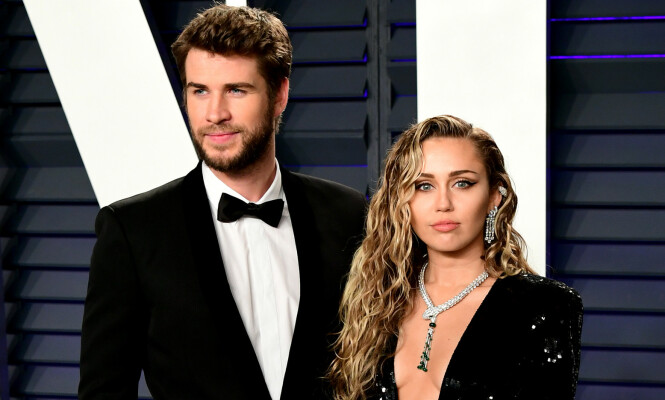 BRUDD: Åtte måneder etter at de giftet seg var bruddet mellom Liam Hemsworth og Miley Cyrus et faktum. De hadde vært av-og-på-kjærester i 10 år. FOTO: NTB scanpix
