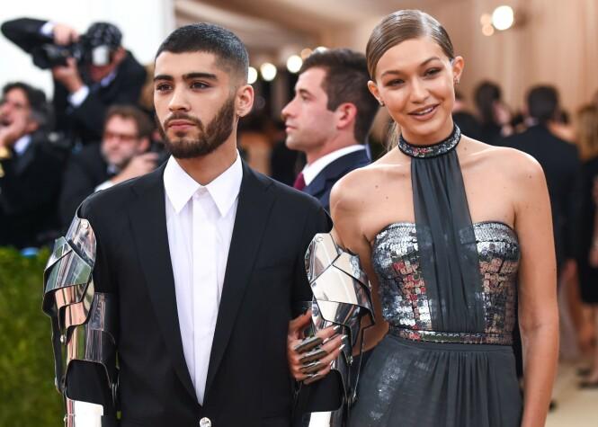BRUDD: I januar 2019 var det over for kjendisparet Gigi Hadid og Zayn Malik. Her fra Met-gallaen i 2016. FOTO: NTB scanpix