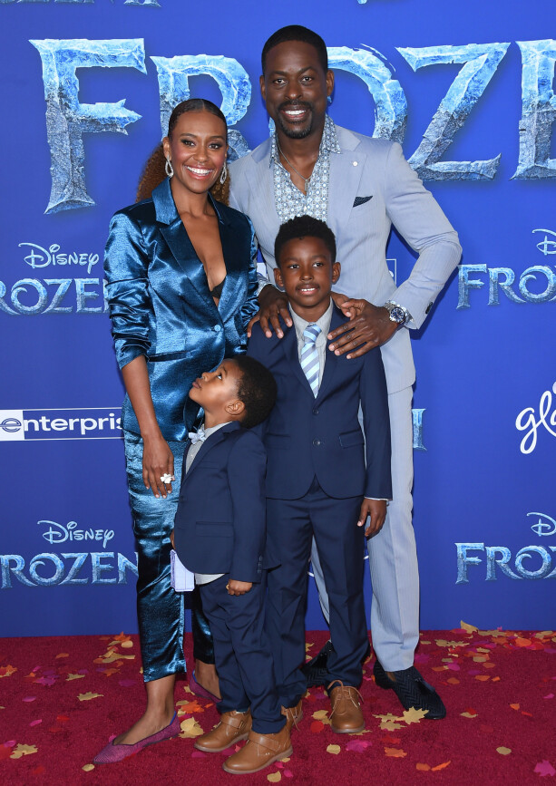 Ryan MICHAEL BATE: The actor had his two boys and their husband Sterling Brown at the premiere. Photo: NTB Scanpix