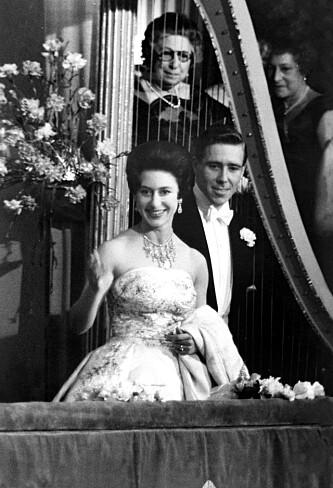 OFFENTLIG: Prinsesse Margaret og Antony Armstrong- Jones fotografert i The Royal Opera House. Foto: Shutterstock NTB Scanpix