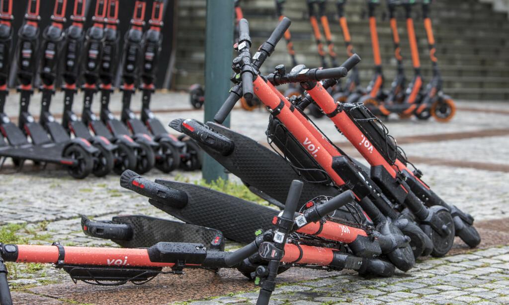 REGULERING: Sjefen for elsparkesykkeloperatøren Voi vil ha mer regulering av næringen. Foto: Ole Berg-Rusten / NTB Scanpix