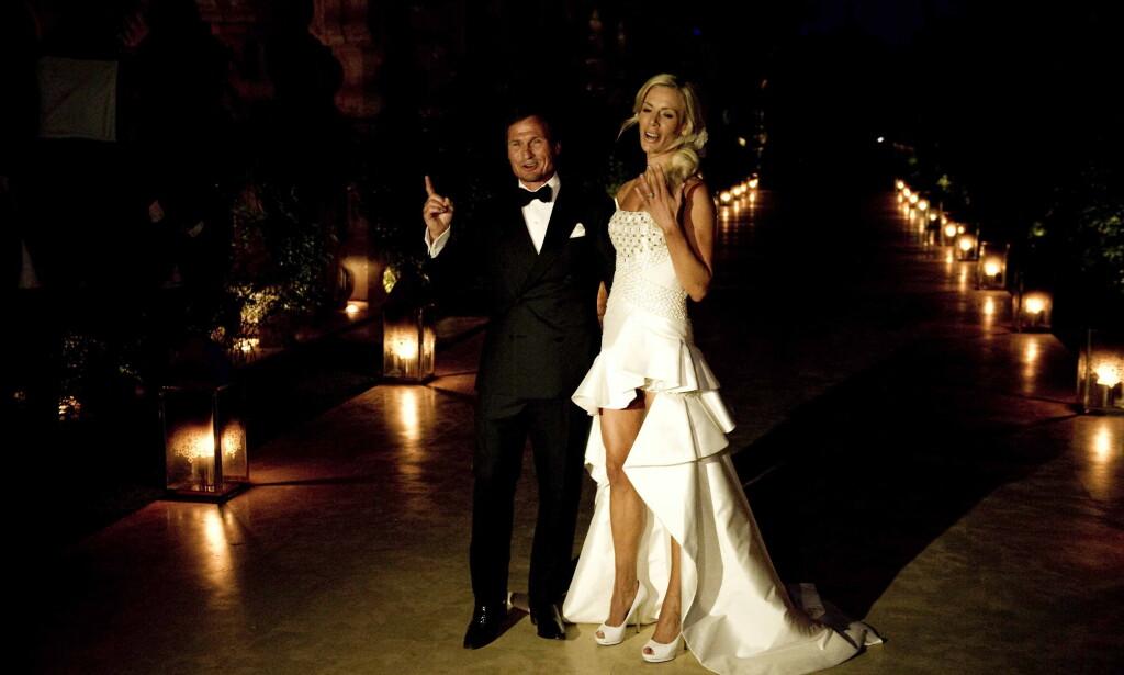 BRYLLUP: Gunhild og Petter Stordalen giftet seg i Marrakesh, Marokko, i 2010. Når har paret annonsert at de går fra hverandre. Foto: Øisten Norum Monsen