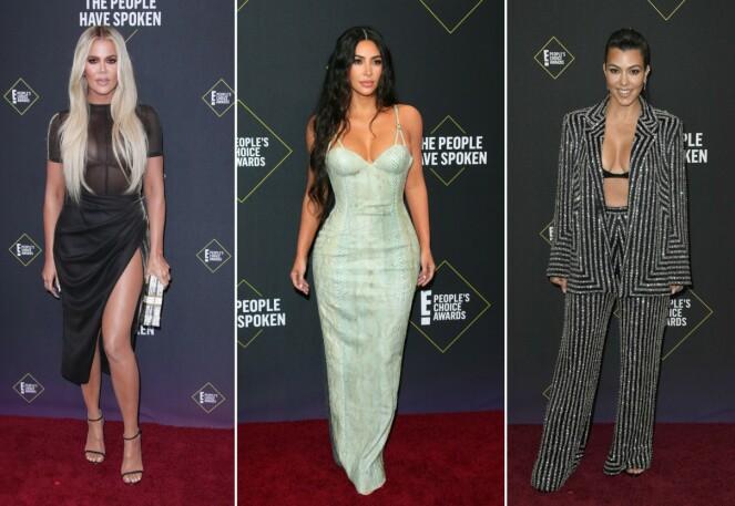 SØSTRE: Kardashian-søstrene var selvfølgelig på plass. Foto: NTB Scanpix