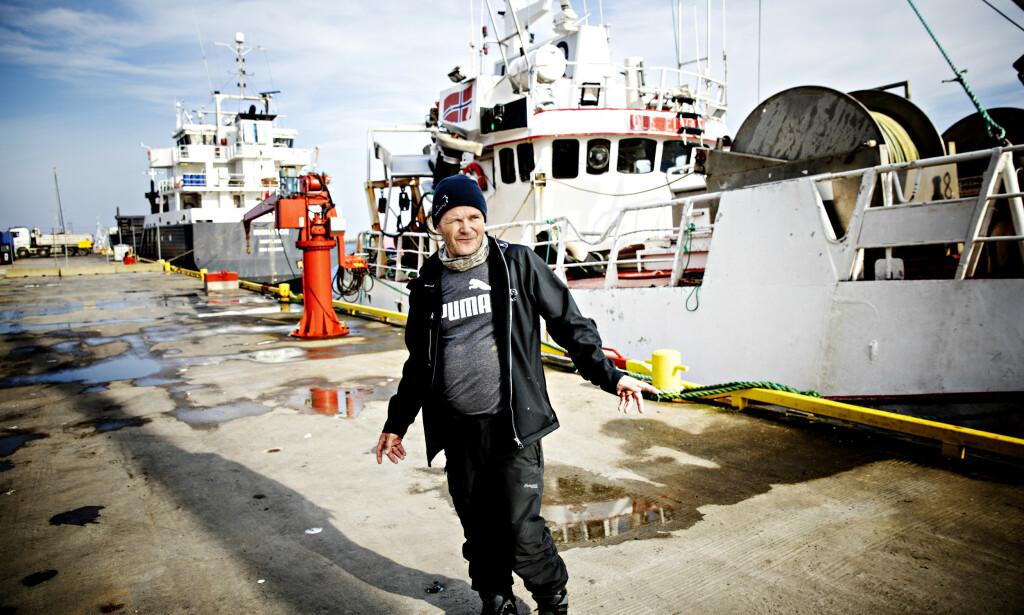 SIER HAN HAR RYDDET OPP: Daglig leder ved Andenes fiskemottak, Leif Ronald Kvivesen. Foto: Nina Hansen/Dagbladet