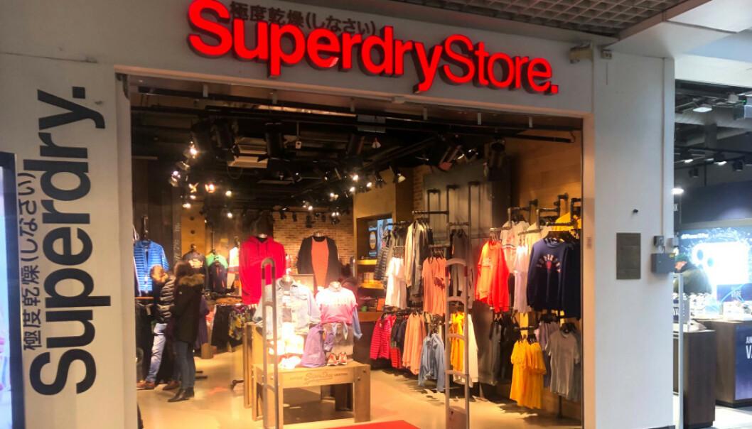 <strong>KONKURS:</strong> Samtlige av selskapet Superdrys butikker i Norge har begjært seg konkurs. Bildet viser selskapets butikk på Oslo City. Foto: Trym Mogen / Dagbladet