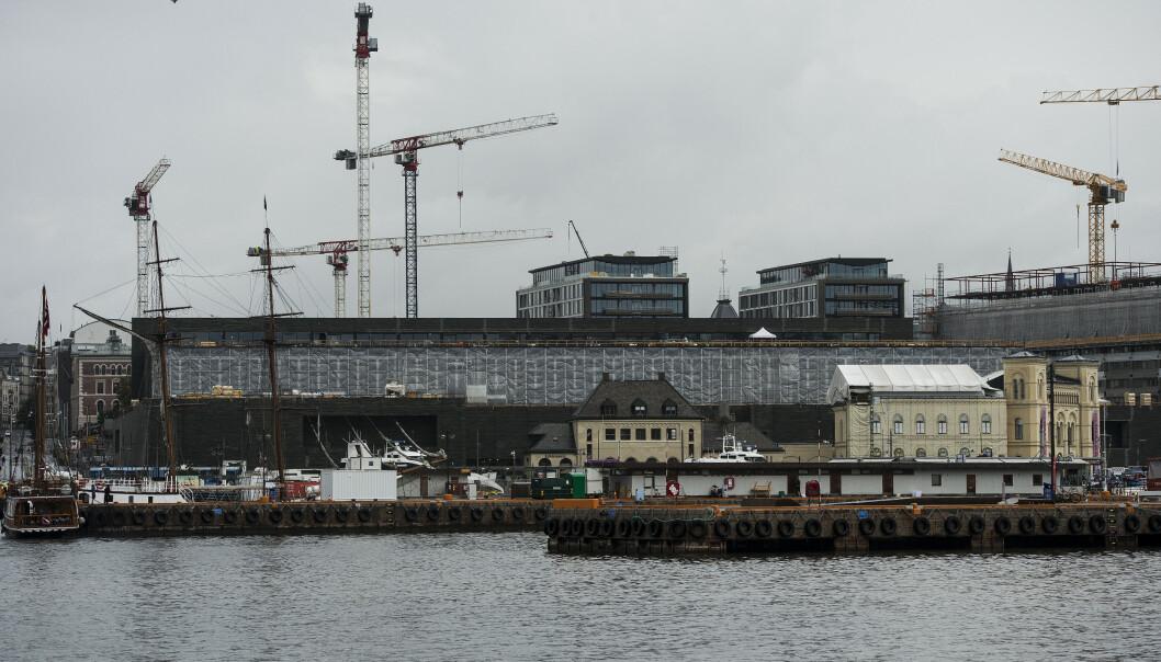 <strong>LØNN:</strong> Statsbygg undersøker nå om arbeidere som jobber med å bygge det nye Nasjonalmuseet i Oslo, har fått utbetalt for lav lønn. Foto: Carina Johansen / NTB scanpix