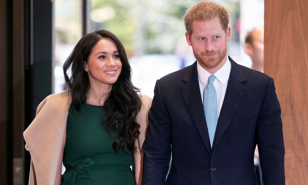 <strong>IKKE-KONGELIG JUL:</strong> Prins Harry og hertuginne Meghan skal angivelig feire jul i statene med Meghans mor. Foto: NTB Scanpix
