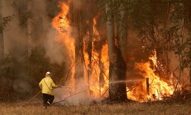 ALVORLIG: I disse dager opplever Australia en av de verste skogbrannene i landets historie. Foto: NTB Scanpix