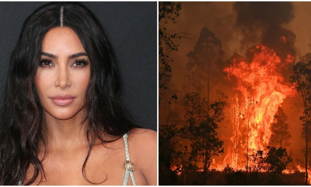 REFSES: Realitystjernen Kim Kardashian West får fansen til å se rødt etter at hun delte et innlegg på Twitter som flere anser som upassende. Foto: NTB Scanpix