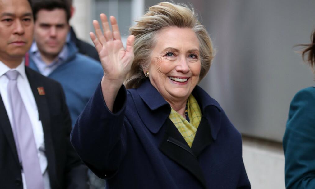 KANDIDAT? I et nytt intervju utelukker ikke Hillary Clinton at hun kan finne på å stille i presidentvalget i 2020. Her er hun avbildet ved BBCs lokaler i London. Foto: Beretta/Sims/Shutterstock