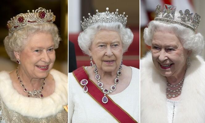 SAMLING: Dronning Elizabeth har flere smykker å velge mellom. Foto: NTB Scanpix