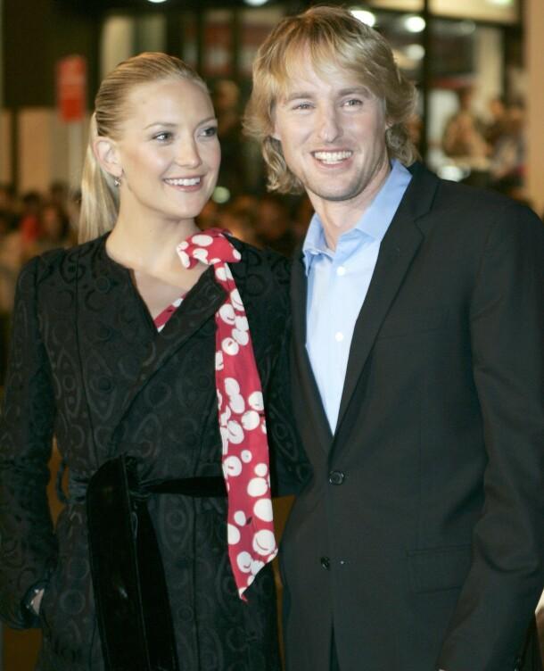 EKSER: Owen Wilson har vært koblet til flere Hollywood-stjerner, deriblant Kate Hudson. De to ble først kjent da de spilte i filmen «You, Me and Dupree». Her på filmens premiere i Sydney i 2006. Foto: Reuters/ NTB scanpix
