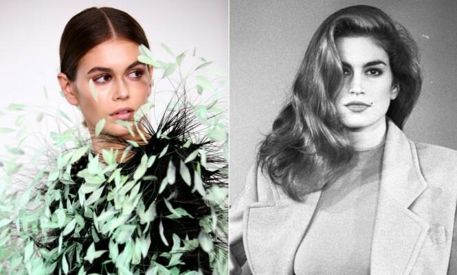 <strong>SOM MAMMA:</strong> Kaia Gerber har fulgt i mamma Cindy Crawfords fotspor, og satser på en karriere som supermodell. Foto: NTB Scanpix