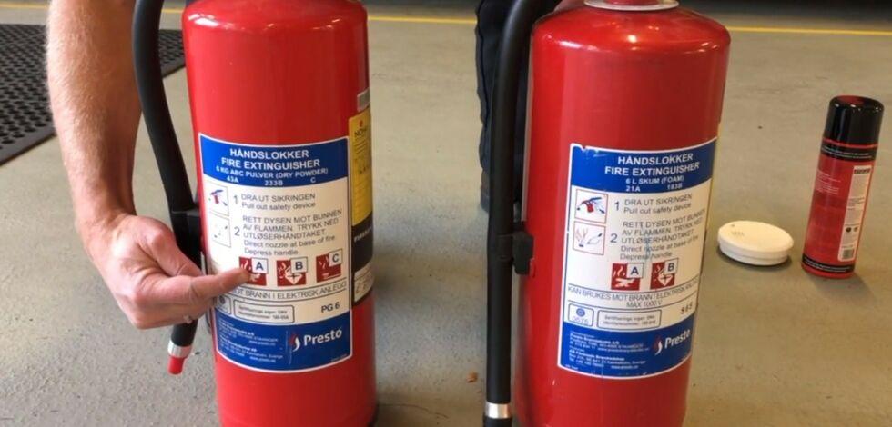 image: Slik sjekker du brannslukningsapparatet