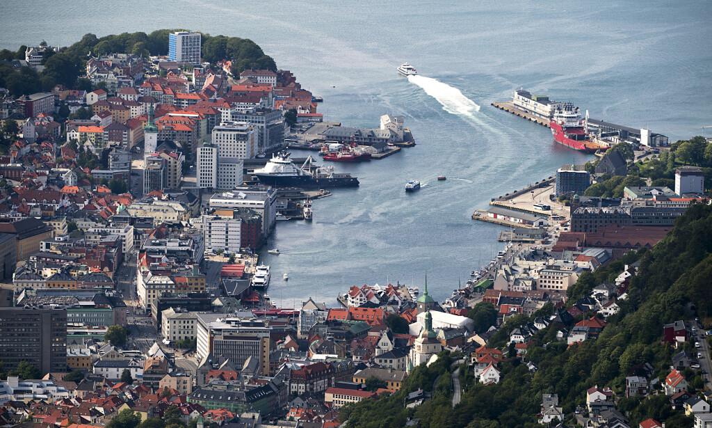 TRANGT: Neste år kan 700 000 cruiseturister besøke Bergen. Foto: Marit Hommedal / NTB scanpix