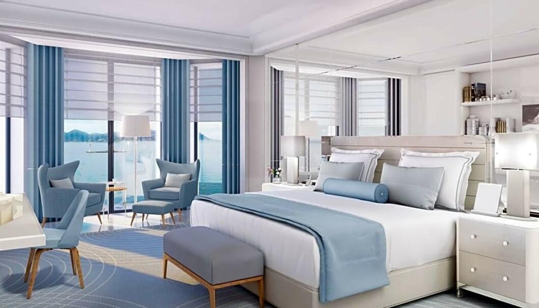 <strong>LEKKERT:</strong> Det er ser rimelig greit ut å sove i toppsuiten på Hotel Martinez. Foto: Hotel Martinez.
