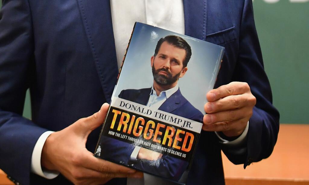 MISTENKSOMT: Noen har kjøpt opp store kvanta av Donald Trump Jr. sin nye bok «Triggered». Foto: AFP / NTB Scanpix