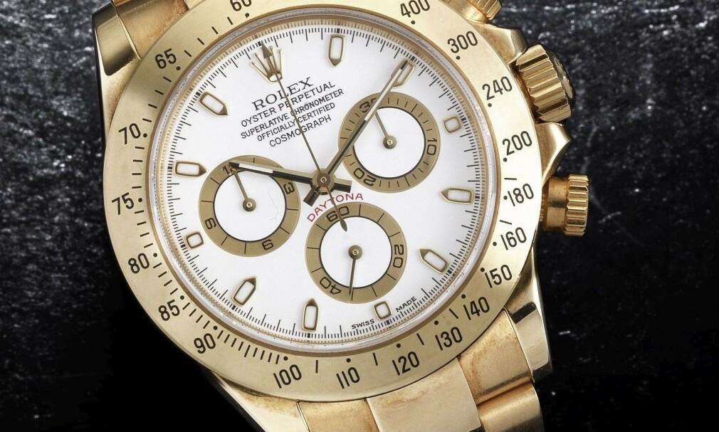 ROLEX: Kvinnen stjal til sammen fem Rolex-klokker, og gjemte fire av dem i skjeden. Illustasjonsfoto: Bonhams / Bournemouth News / REX / NTB Scanpix