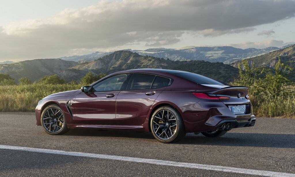 SEDAN: Gran Coupe er egentlig en stor luksussedan med sportslig linjeføring og ditto ytelser. Foto: BMW