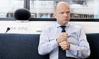 <strong>TRAVELT:</strong> NHO-sjef Ole Erik Almlid har dårlig tid. Foto: Kristin Svorte